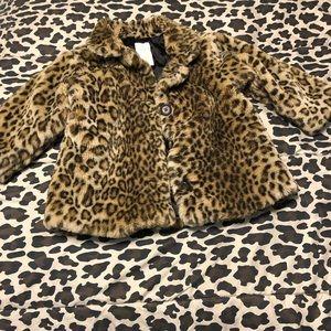 Baby Gap Faux Leopard Coat